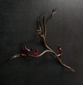 Bird Branch by Guilded artist Yasemen Hussein