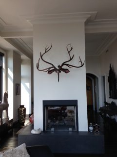 Herne by Guilded Artist Yasemen Hussein shown on wall in New York