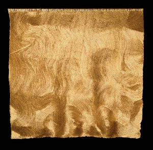 Espacio a gilded textile by Olga de Amaral procured by Guilded on behalf of a client