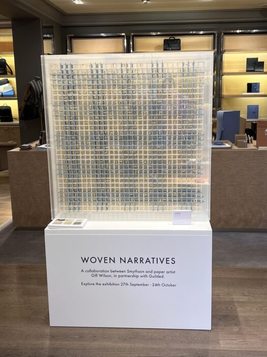 Gill Wilson 'Woven I' on show at Smythson