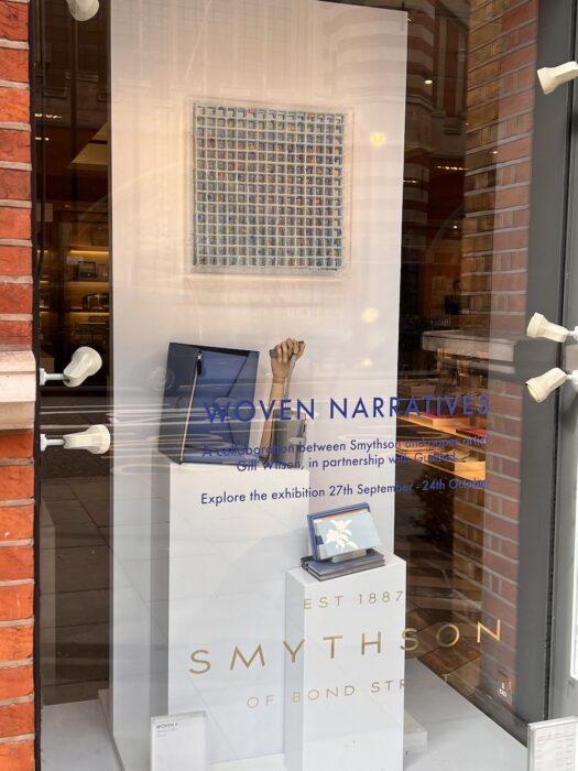 Woven II by Gill Wilson shown in Smythson window