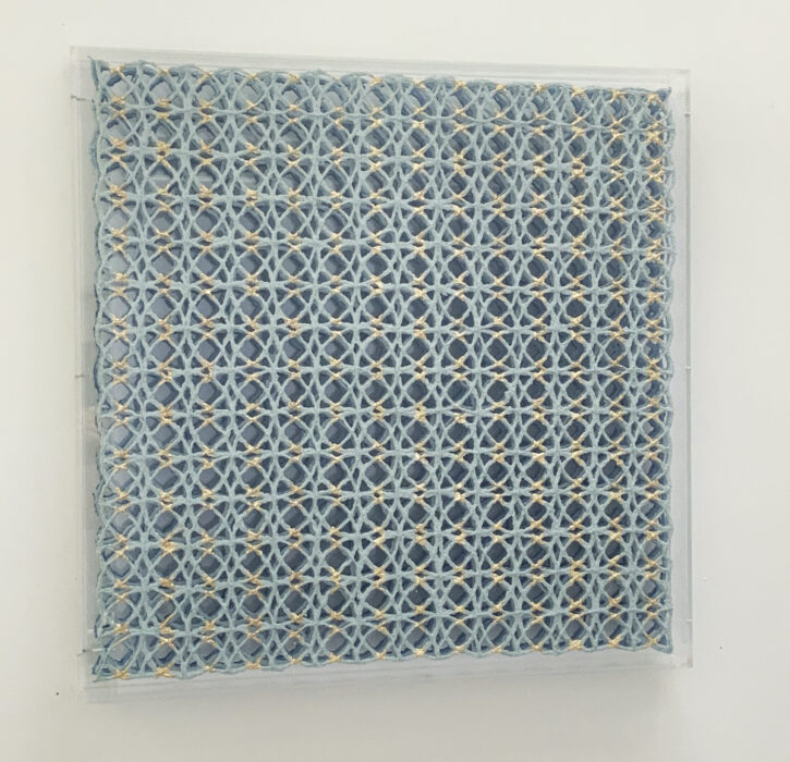 Interlock II by paper maker and artist Gill Wilson for Guilded colllaboration in partnership with Smythson
