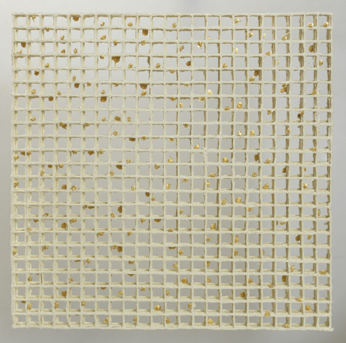 Woven III by paper maker and artist Gill Wilson